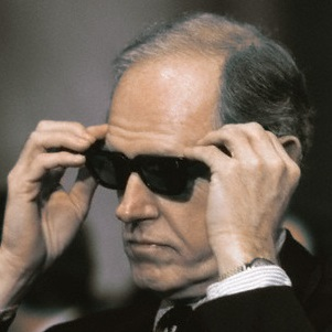 24 Sep 1973, Washington, DC, USA --- Original caption: Washington, D.C.: Convicted Watergate conspirator E. Howard Hunt is shown on the first and second days of testimony before Watergate Senate Investigating Committee. --- Image by © Bettmann/CORBIS